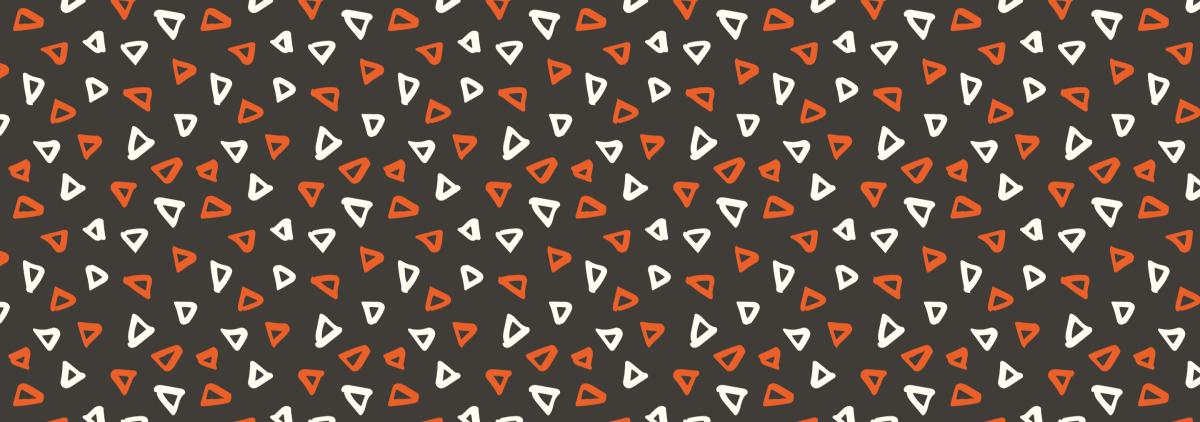 Orange and white triangles pattern