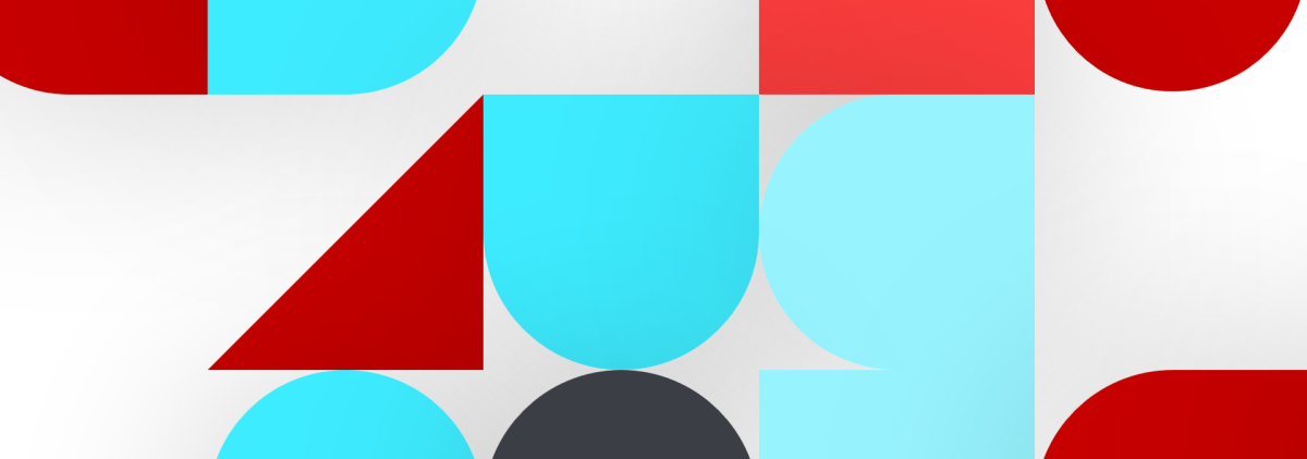 Red and blue shapes pattern