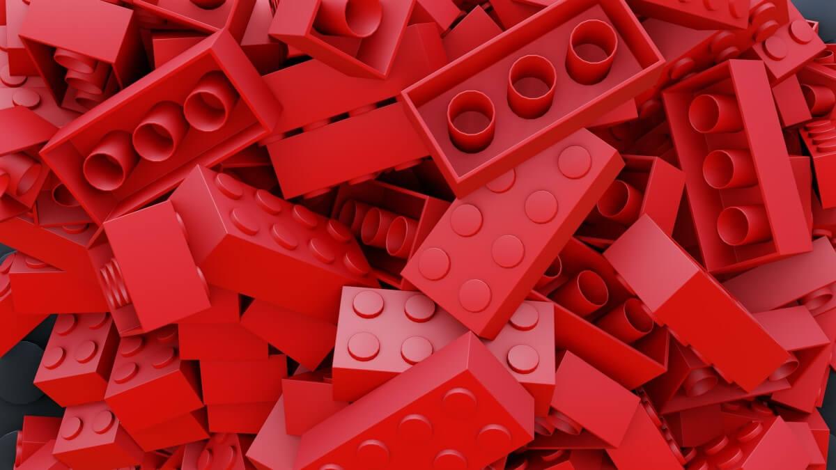 Red lego blocks