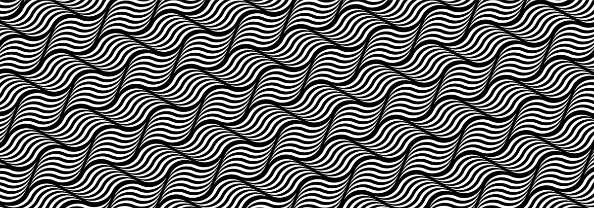 Waves black and white pattern